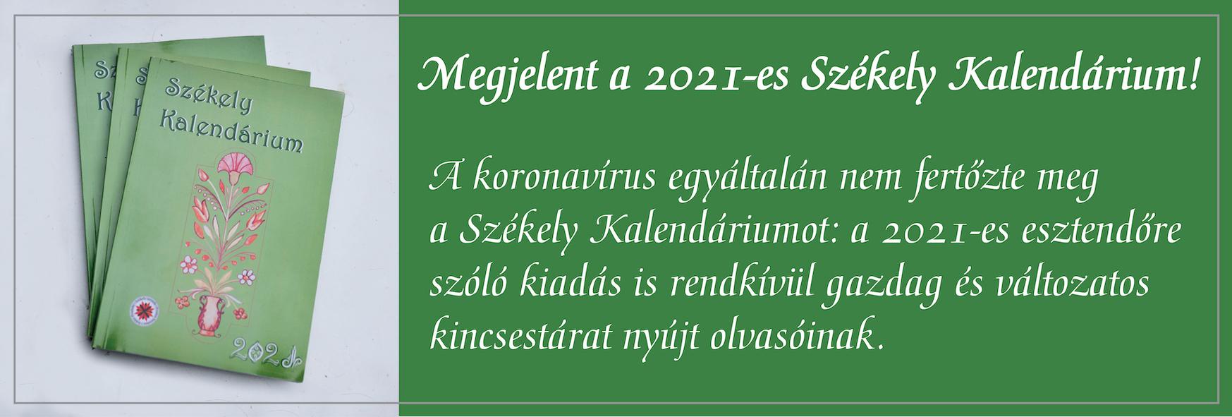 Székely Kalendárium 2021